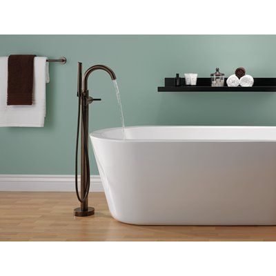 Delta Trinsic Single Handle Floor Mount Freestanding Tub Filler