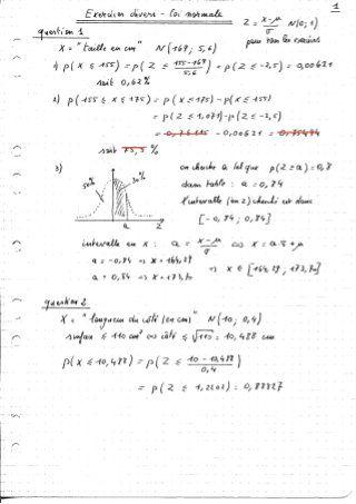 7 Exercices Corriges Sur La Loi Normale Math Map Bullet Journal