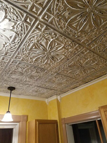 Milan 2 Ft X 2 Ft Lay In Or Glue Up Ceiling Tile In Old Black White Tin Ceiling Tin Ceiling Tiles Faux Tin Ceiling Tiles