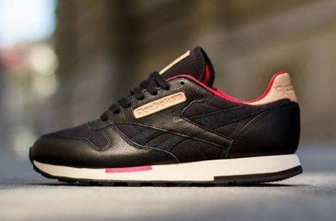 Reebok Classic Leather Utility – Black Red  125f1e5d6