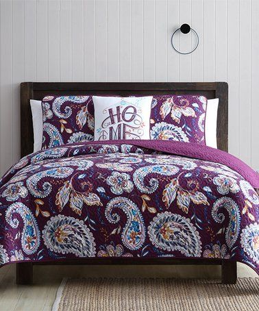 Love This Purple Paisley Zara Oversize Four Piece Quilt Set On