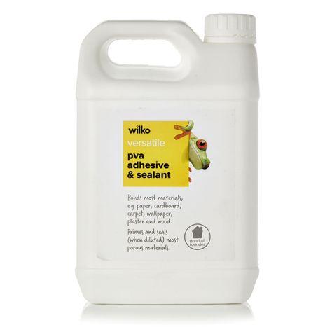 Wilko Pva Adhesive And Sealer Multi Purpose 2 5l With Images Pva Adhesive Leather Glue Adhesive