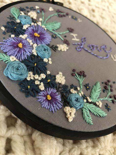 Lavender Bumblebee-un bordado y Stumpwork Kit Para Principiantes
