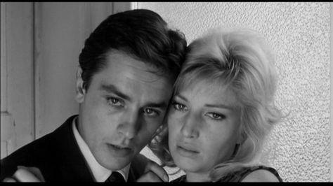 "Batan Güneş"" filminden | From #Leclisse movie Yönetmen (Director): #MichelangeloAntonioni | Alain delon, Actors, Couple photos"