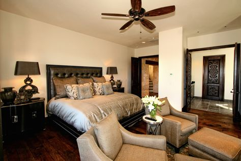 Eclectic Spanish Style Lake Home Bedroom