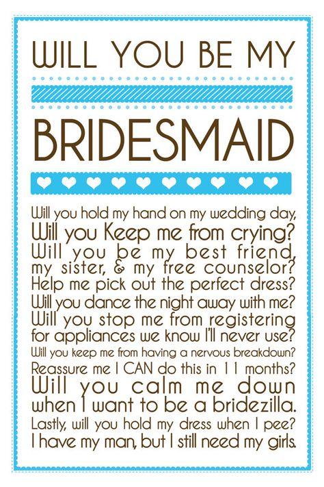 Bridesmaid invitation, Perfectly cute! haha