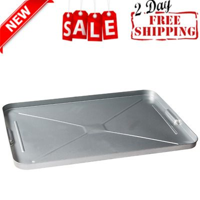 Details About Oil Drip Pan Galvanized Tray Metal Large For Under