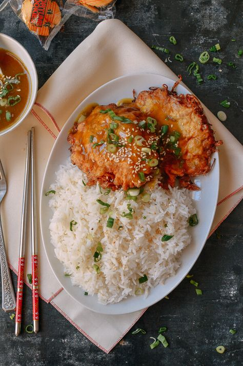 Chicken Egg Foo Young Chinese Takeout