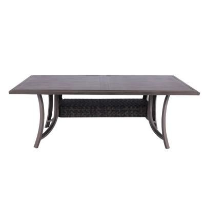 Patio Time Demeter Aluminum And Pe Wicker Outdoor Dining Table