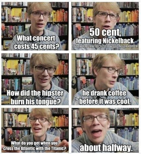 I like the first one because at the bottom it says 'it's extra funny because it would never happen'