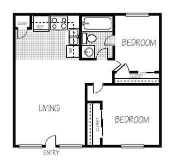 Image Result For 600 Sq Ft Living Space Floor Plan 2 Bed 1 Bath Bedroom Floor Plans Tiny House Floor Plans Small Apartment Floor Plans