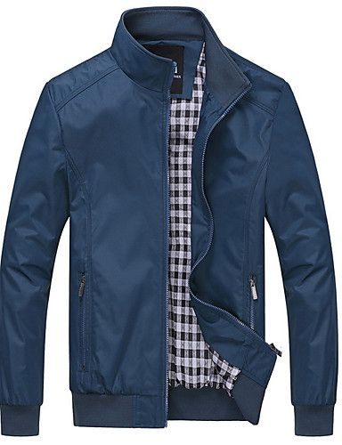 9324ed619 31.89] Men's Daily Regular Jacket, Contemporary Stand Long Sleeve ...