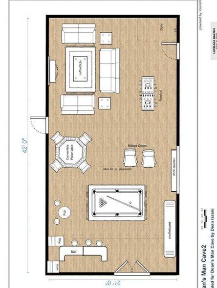 Home Bar Designs Basement Man Cave Layout 26 Ideas Man Cave Layout Man Cave Floor Plans Man Cave Home Bar