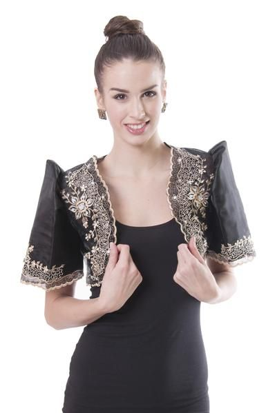 Filipiniana Mestiza Bolero Black 001