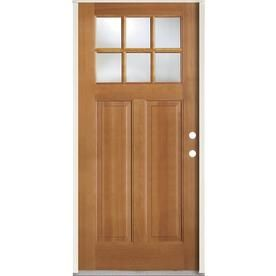 Simpson 36 In X 80 In 1 4 Lite Clear Glass Left Hand Inswing Brown Wood Prehung Entry Door Solid Core Lowes Com Entry Doors Brown Wood Clear Glass