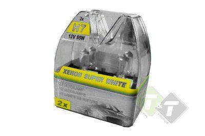 H7 Autolamp Xenon Super White 2x H7 12 Volt 55 Watt Koplamp Lampen Led Gloeilampen