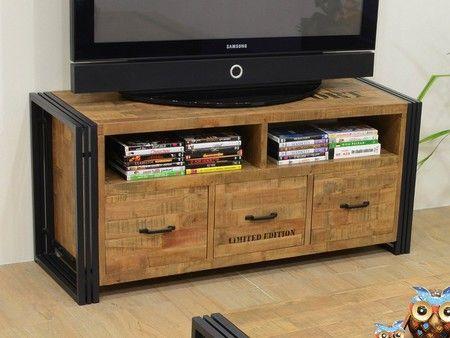 Meuble Tv Industria 2 Hevea Recycle Meuble Tv Meuble Haut De Gamme Meuble Tv Bois