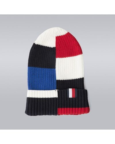 1e36596fe Men's Block Stripe Beanie - Hilfiger Edition | knitted hat and scarf ...