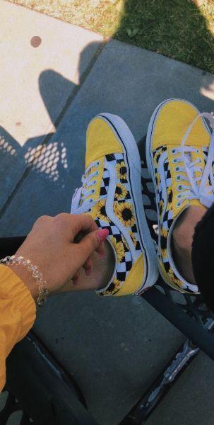 zapatos elegantes mejores telas características sobresalientes Vans bellos para chicas de girasoles 😍😍🌻🌻 | Ropa ...