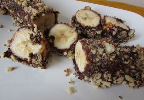 """Banana Babies ice cream bars"" - Paleoized! (sugar-free - except for the fruit - dairy-free, GF, soy-free). I would use my homemade chocolate chips"