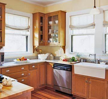 Image Result For A Sink Honey Oak Cabinets