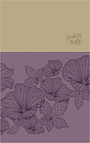Niv Beautiful Word Coloring Bible Large Print Leathersoft Purple Tan Zondervan 0025986447069 Amazon Com Boo Bible Coloring Beautiful Words Large Prints