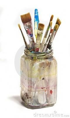 56 Ideas Painting Brush In Jar Painting Paint Brush Art Paint