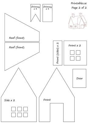 halloween gingerbread house template  Template for gingerbread house 6 (free printable ...