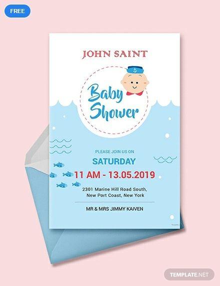 Free S Baby Shower Invitation