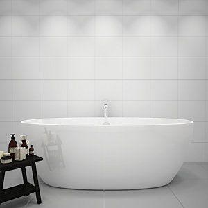 Wickes White Gloss Ceramic Wall Tile 360 X 275mm In 2020 Bathroom Wall Tile White Tile Bathroom Walls White Bathroom Tiles