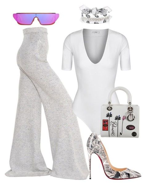 Untitled #5371 by stylistbyair on Polyvore featuring polyvore fashion style STELLA McCARTNEY Alix Christian Louboutin Christian Dior Fallon clothing