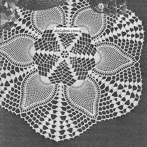 Vintage Crochet Doily Thread PATTERN Pineapple Popcorn