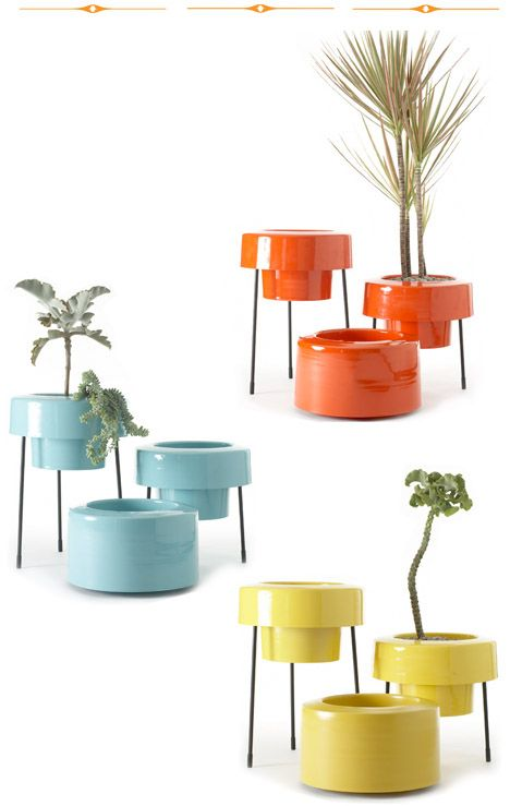 Always Loved These Atomic Bullet Planters Es Outdoor Mid Century House Decor