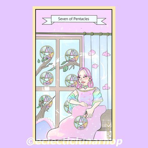 #sevenofpentacles #sevenofpentaclestarotcard #tarot #tarologia #tarotcards #tarotdeck #diytarot #mytarot #drawingtarot #tarotadvices #tarotlesson #cutetarot #kawaiitarot #happytarot #magick #magickart #witch #witchyart #divination #witchy #witchaccessories #perseverance #hardwork #distractions #pentacles #digitalart #digitalartist #digitalillustration #tarotmagick #artwitch