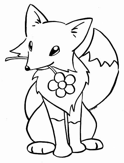 Kawaii Fox Coloring Page Inspirational Cute Baby Fox Coloring Pages Part 2 In 2020 Fox Coloring Page Puppy Coloring Pages Cartoon Coloring Pages