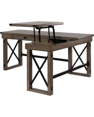 Laurel Foundry Modern Farmhouse Gladstone L Shape Standing Desk From Wayfair Bhg Com Shop Modern Farmhouse Desk Home Office Design