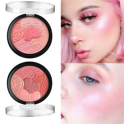 Makeup Face Highlights Rouge Carving Pressed Powder Petal Blush Matte Blusher Makeup Base Oil Control Products Contour Makeup