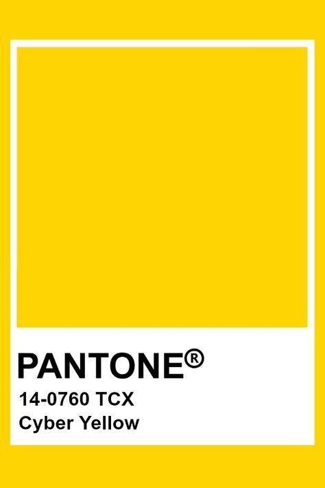 Pantone Cyber Yellow