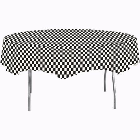 Black Check Octy Round Tablecloths 3 Count Round Tablecloth