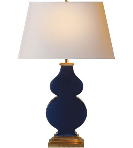 Alexa Hampton Anita 29 Inch 150 Watt Midnight Blue Porcelain Decorative Table Lamp Portable Light In 2020 Decorative Table Lamps Table Lamp Visual Comfort