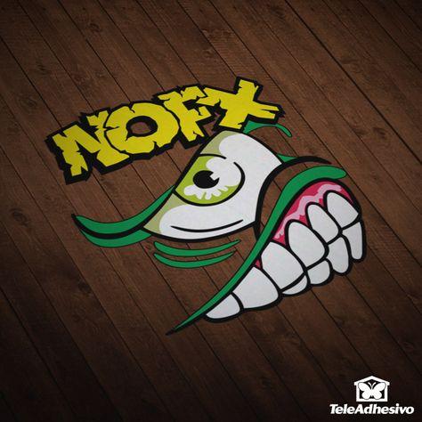 Autocollants Nofx Logotipo Artistico Pegatinas Y Pegatinas Para