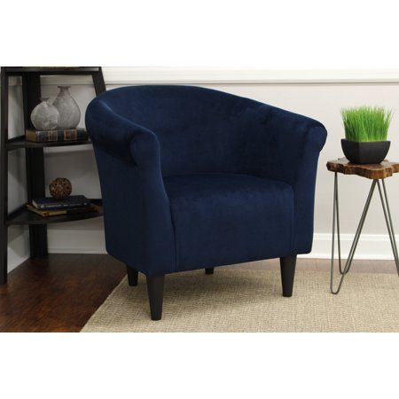 Mainstays Microfiber Bucket Accent Chair Multiple Colors Walmart Com Blue Accent Chairs Accent Chairs Upholstered Chairs