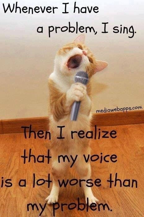 Singing Can Help Problems Funny Funny Quotes Funny Pictures With Captions