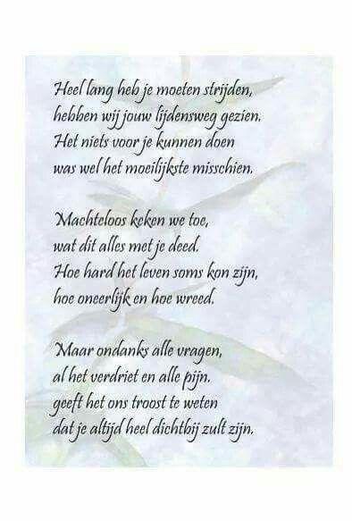 Pin Van Nicole Engelen Op Overlijden Gedichten Teksten En