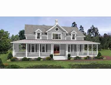 Single Story Home Plans With Wrap Around Porches Fresh 33 Awesome 1 Story Floor Plans Wi Farmhouse Style House Farmhouse Style House Plans Colonial House Plans