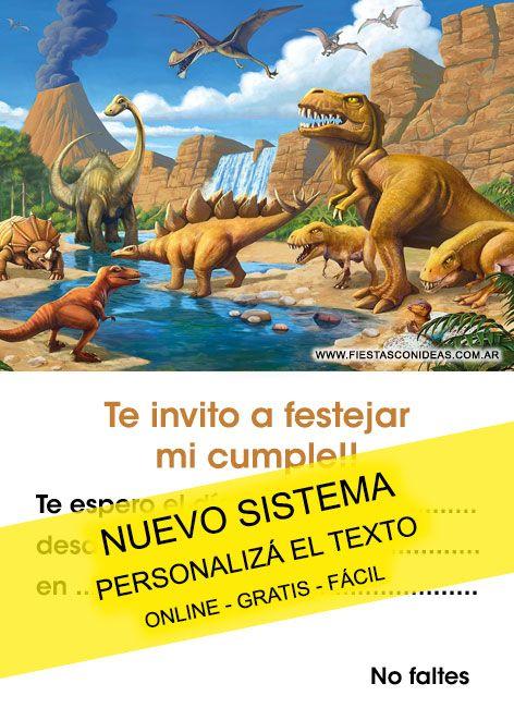 Dinosaurios Tarjeta De Cumpleaños Para Imprimir