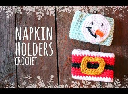 Tutorial Crochet Super Easy Napkin Holders In 15 Min Lanas Y Ovillos In English Youtube Crochet Napkin Holder Crochet Hats