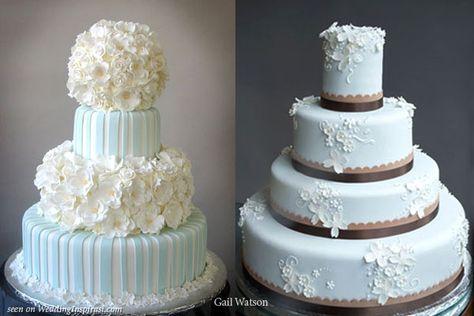 Hydrangea cake on the left   #weddings