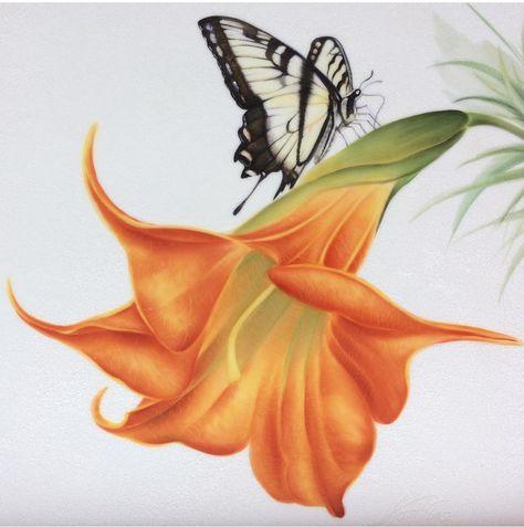 Encadrée imprimer-belle violet papillon photo poster insecte chenille