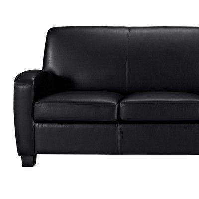 Dallas Faux Leather Sofa Black Dorel Living Faux Leather Sofa Leather Sofa Black Leather Sofas